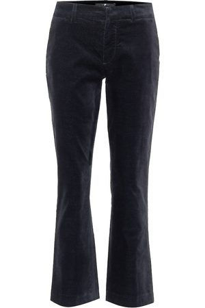 7 for all Mankind Women Chinos - Mid-rise cropped velvet pants