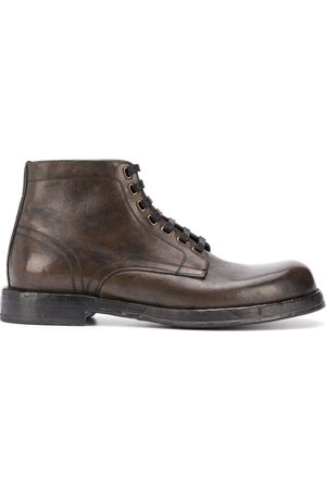 Dolce & Gabbana Chunky lace-up leather boots