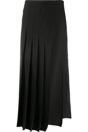 Brunello Cucinelli Asymmetric pleated skirt