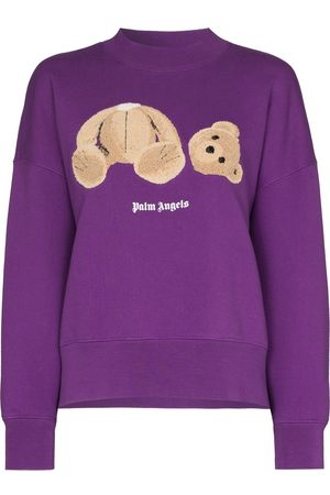 Palm Angels Women Jumpers - BEAR OVER CREW BROW