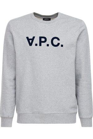 A.P.C Flocked Upside Down Logo Cotton Sweater