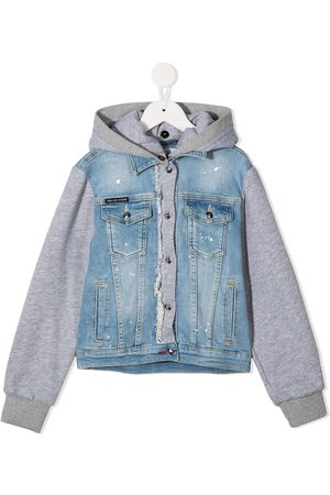 Philipp Plein Rear teddy bear denim jacket
