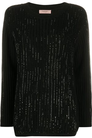 Twin-Set Rhinestone embellished jumper