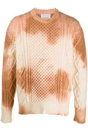 LANEUS Tie-dye cable-knit jumper
