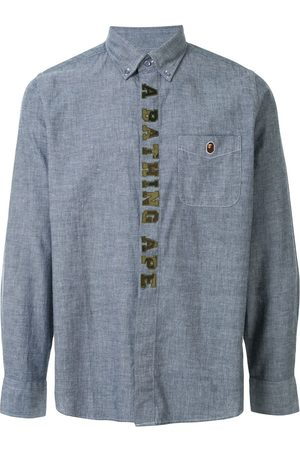 A BATHING APE® Embroidered logo button-down shirt