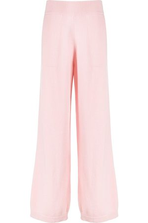 Barrie Wide-leg cashmere trousers