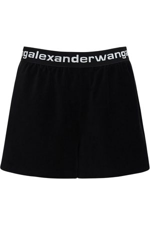 Alexander Wang Women Shorts - Stretch Corduroy Shorts W/ Logo