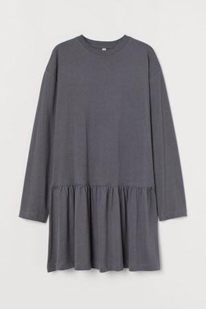H&M Cotton jersey dress - Grey