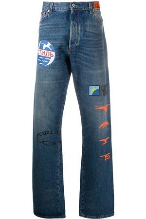 Heron Preston Men Bootcut & Flares - Graphic-print bootcut jeans