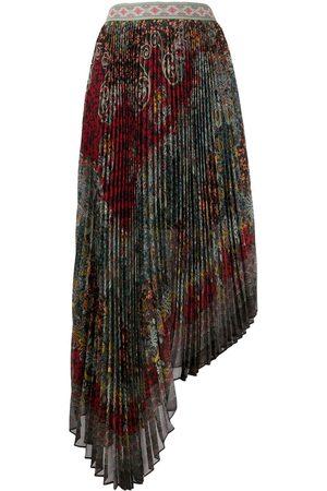 ALICE+OLIVIA Asymmetric pleated skirt
