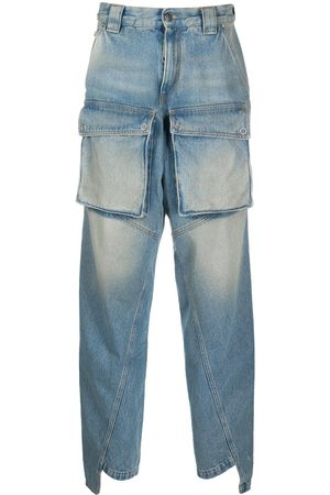 OFF-WHITE Multi-pocket straight-leg jeans
