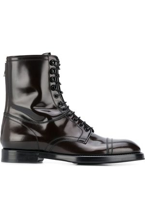 Dolce & Gabbana Men Boots - Ankle lace-up leather boots