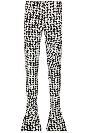 OFF-WHITE Psychedelic houndstooth print skinny trousers