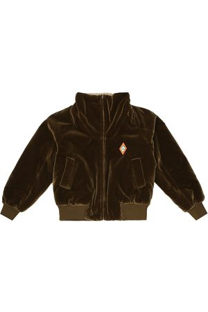 The Animals Observatory Tiger velvet and fleece jacket