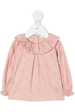 KNOT Shirts - Ruffled neck blouse