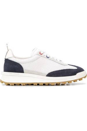 Thom Browne Tech suede trimmed sneakers