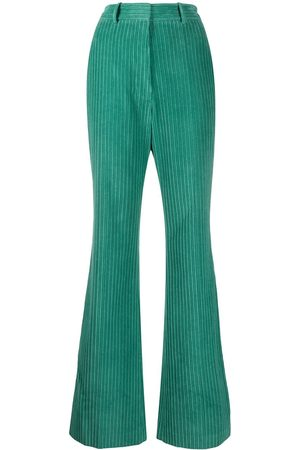 Victoria Beckham High-rise flared cudouroy trousers