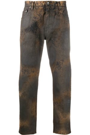 Dolce & Gabbana Bleached-effect straight-leg jeans