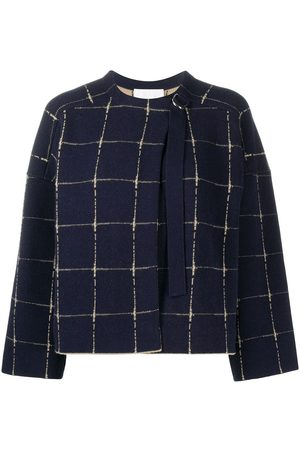 Chloé Women Jumpers - Cashmere-wool blend boxy check jumper