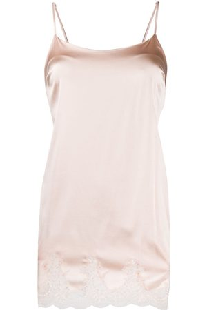 Fleur of England Silk slip with lace hem