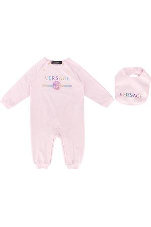 VERSACE Sets - Logo print babygrow set