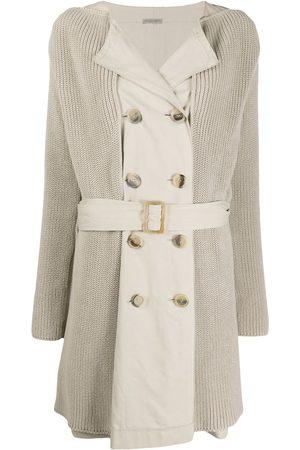 Bottega Veneta 2000s layered belted trench coat