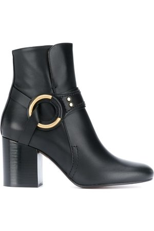 Chloé Women Boots - Ring detail leather boots