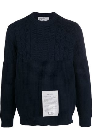 BALLANTYNE Logo patch cashmere knit jumper