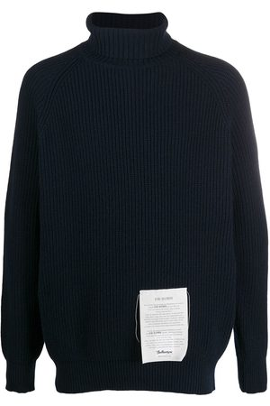 BALLANTYNE Ribbed roll neck jumper