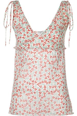 CHANEL 2004 floral print sleeveless top