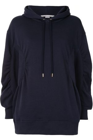 Stella McCartney Ruched-detail oversized hoodie