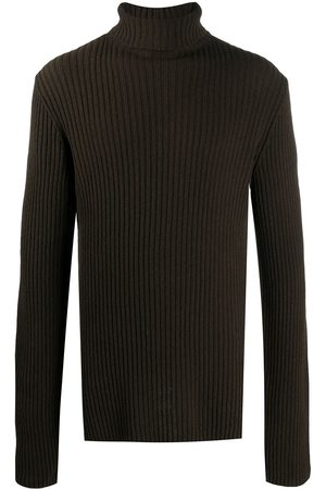 ANN DEMEULEMEESTER Side-slit roll-neck jumper