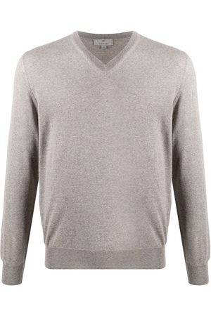 CANALI Men Long Sleeve - V-neck long-sleeved jumper