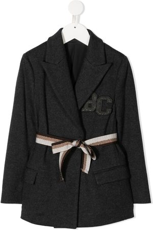 Brunello Cucinelli Tie-waist virgin wool blazer
