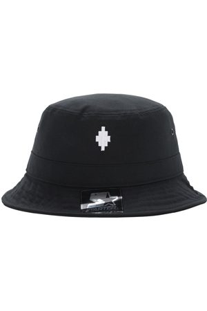 MARCELO BURLON Starter Cross Logo Canvas Bucket Hat