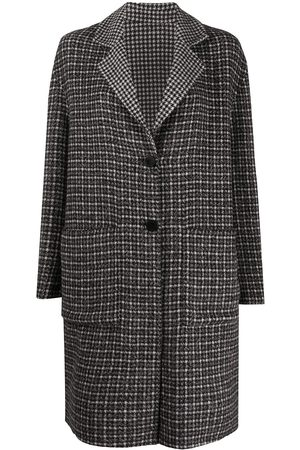 Twin-Set Check single-breasted coat
