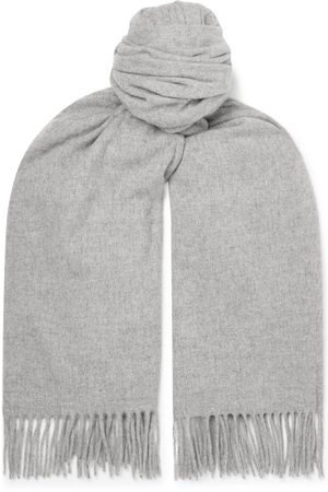 Acne Studios Oversized Fringed Melangé Wool Scarf