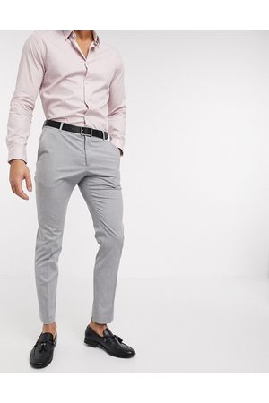 Selected Suit trouser with stretch in slim fit light