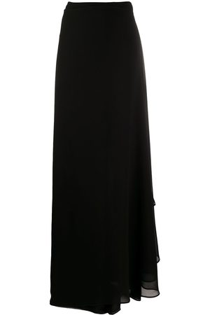 TALBOT RUNHOF Draped-side wide-leg trousers