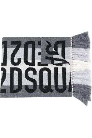 Dsquared2 Jacquard logo wool scarf