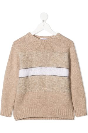 Brunello Cucinelli Stripe detail knitted jumper
