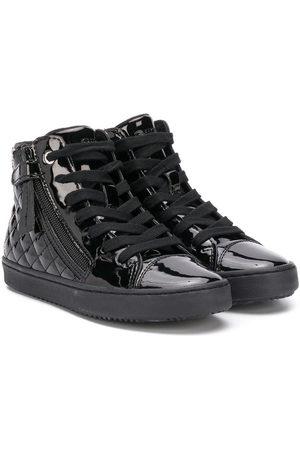 Geox Kalispera patent high top sneakers