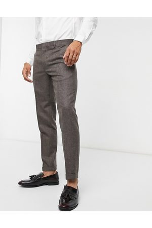 Shelby & Sons Slim trouser with turn up in tweed