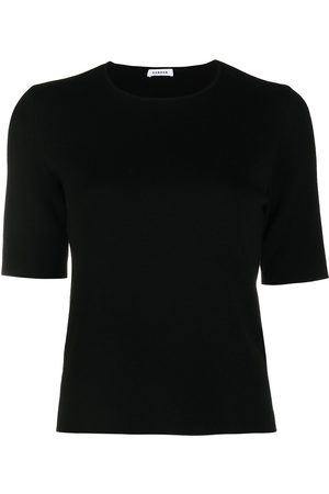 P.a.r.o.s.h. Short-sleeved wool knitted top