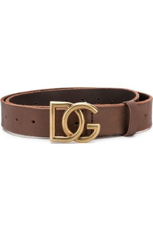 Dolce & Gabbana Men Belts - DG buckle leather belt