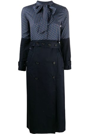 Rokh Women Trench Coats - Scarf-neck trench style dress