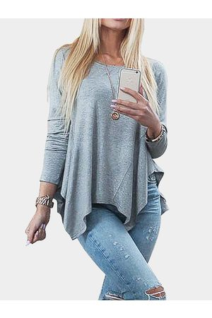 YOINS Pleated Asymmetrical Bottoming Blouse