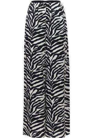 MM6 MAISON MARGIELA Zebra Print Satin Wide Leg Pants