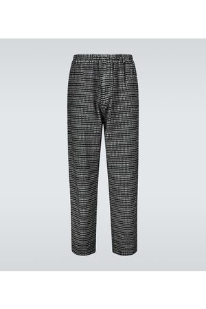 UNDERCOVER Microchecked wool pants