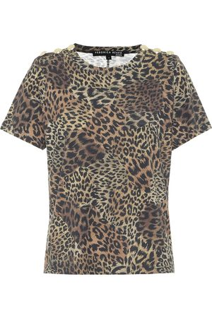 VERONICA BEARD Carla leopard-print cotton T-shirt